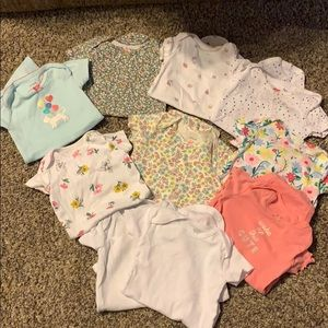 Baby girl lot of 10 - 6 month onesies!!